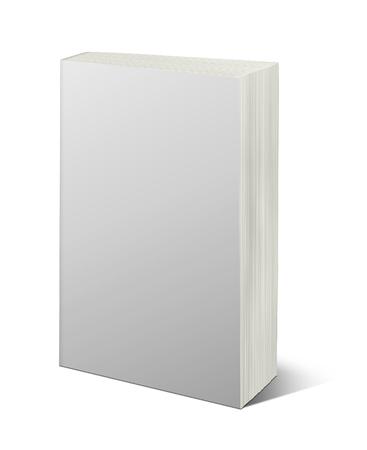 クリッピング パスと白で分離された空白の白い本