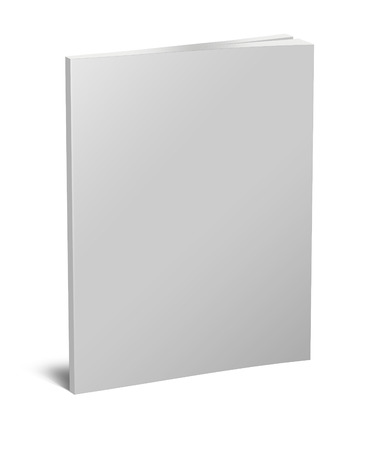 read magazine: Blank white book isolated on white with clipping path