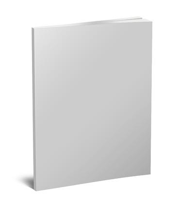 hoja en blanco: Libro blanco en blanco aislado en blanco con trazado de recorte Foto de archivo