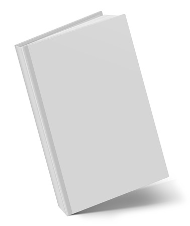 notebook cover: Blank square hardcover album template on white background