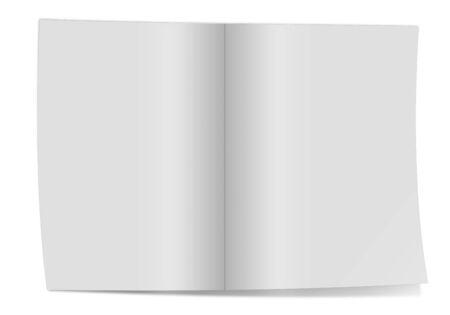 broadside: blank folded paper leaflet or flier mock up in DL size