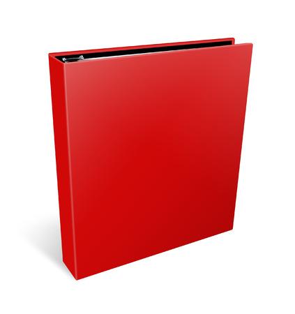 Rode bindmiddel op witte achtergrond Stockfoto