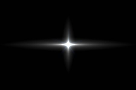 burst background: digital lens flare in black background horizontal frame warm Stock Photo