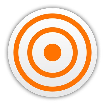 Orange darts target aim on white background