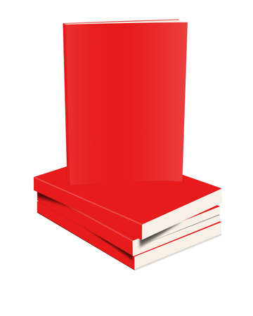 closed book: Red closed book on white background