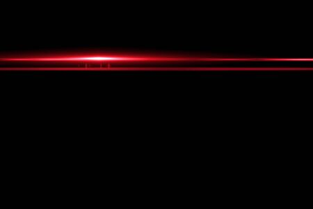 black light: digital lens flare in black background horizontal frame warm Stock Photo