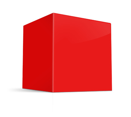 red packet: Blank box on white background