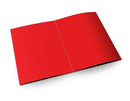 mock up: blank folded paper leaflet or flier mock up in DL size