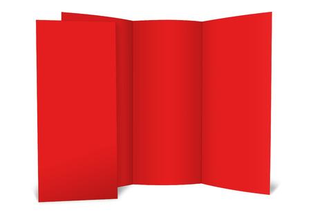 handout: blank folded paper leaflet or flier mock up in DL size