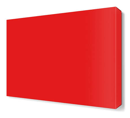 white canvas: Blank red canvas isolated on white background. Stock Photo