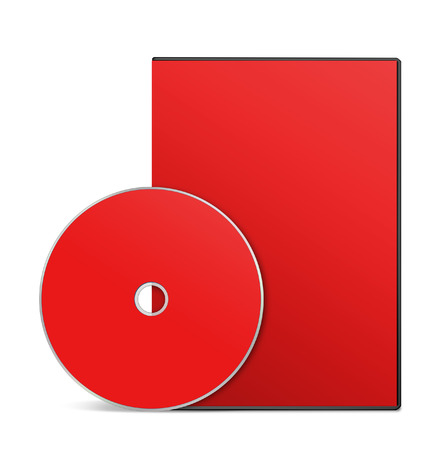 recordable media: Blank DVD case and disc