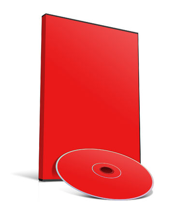 writable: Blank DVD case and disc