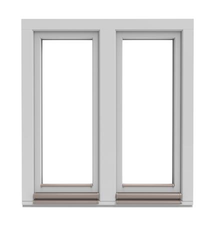 witte raam frame geïsoleerd op een witte achtergrond Stockfoto