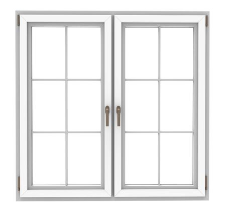 white window: white window frame isolated on white background