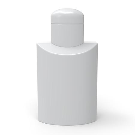 medical shower: White lotion bottle template.