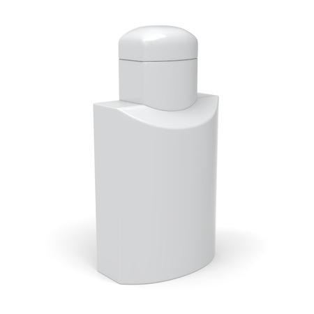 lotion bottle: White lotion bottle template.