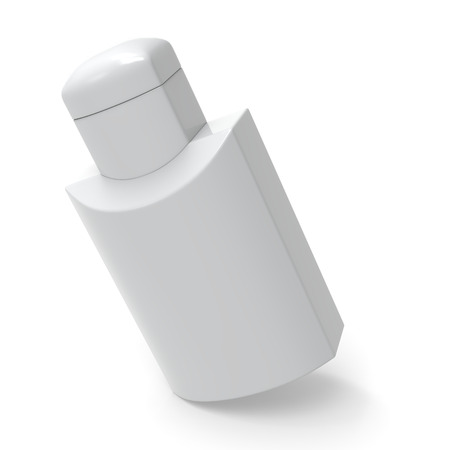 cosmo: White lotion bottle template.
