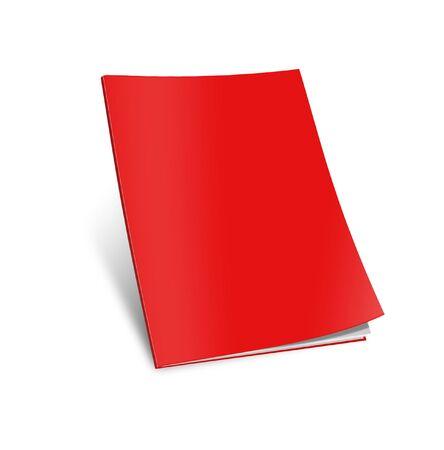 blank magazine: Blank magazine template on white background with soft shadows.