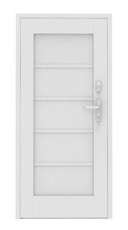 doorstep: 3d white door on white background