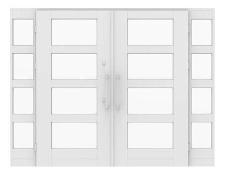white door: 3d white door on white background