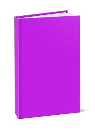 periodical: Blank square hardcover album template on white background