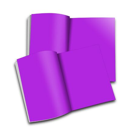 read magazine: Couple of blank magazines template. on white background with soft shadows. Ready for your design.