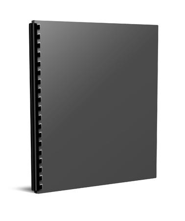 Blank notebook deksel op een witte achtergrond Stockfoto