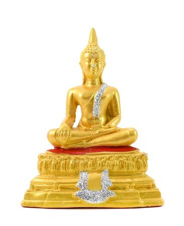 bouddha: Bouddha sur un fond blanc. Banque d'images