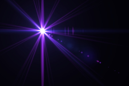 warm: digital lens flare in black background horizontal frame warm Stock Photo
