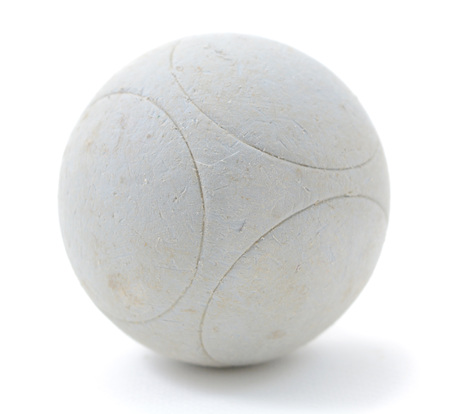 petanque: Petanque ball on white background