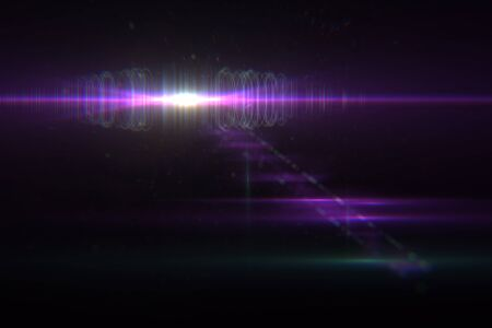 opening party: digital lens flare in black background horizontal frame warm Stock Photo