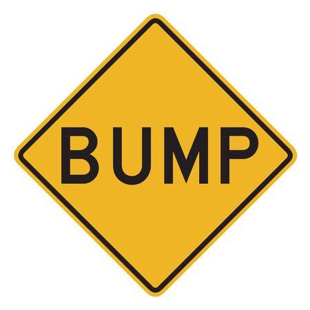 bumpy: Bump warning sign Stock Photo