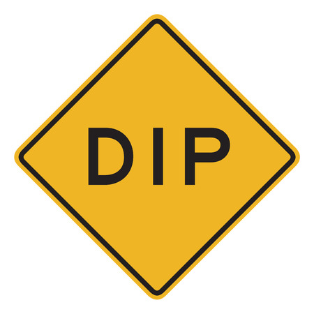 dissuade: Dip sign isolated on a white background