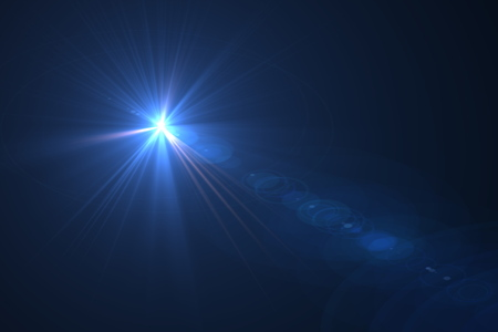 flare: digital lens flare in black bacground horizontal frame Stock Photo