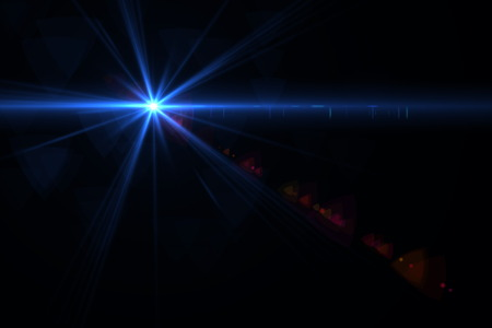 copy space: digital lens flare in black bacground horizontal frame Stock Photo