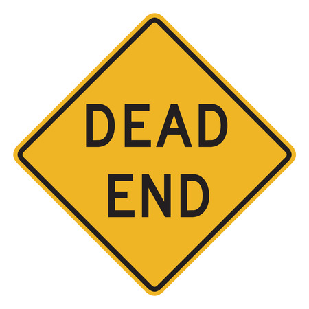 pointless: Dead End Sign isolated on white background. Stock Photo