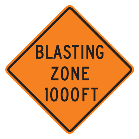 dissuade: Blast Zone 1000 FT sign isolated on a white background