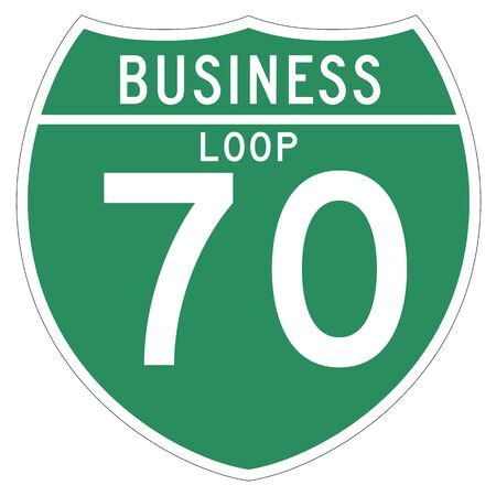 bucle: Off-Interstate Business Loop shield.