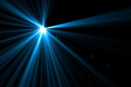 digital lens flare in black bacground horizontal frame Stock fotó