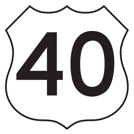 40: US 40 highway sign