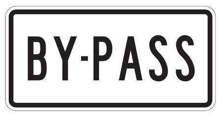 By-pass extra teken geïsoleerd op een witte achtergrond