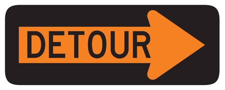 detour: Detour Right road sign