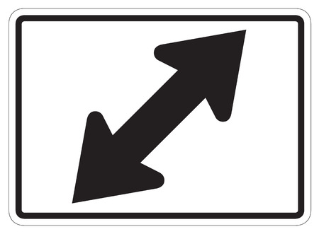 constraint: LeftRight diagonal directional arrow auxiliary sign isolated on a white background
