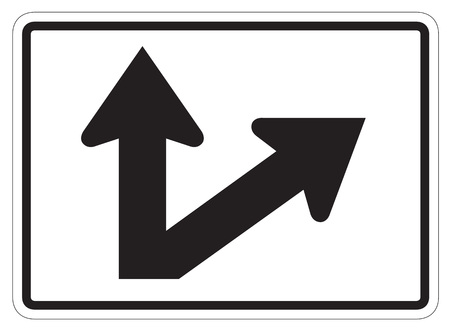dissuade: StraightDiagonal Right Auxiliary Sign isolated on a white background