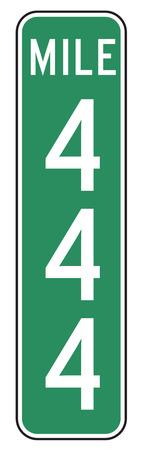 mile: Three Digit Mile Marker Signs