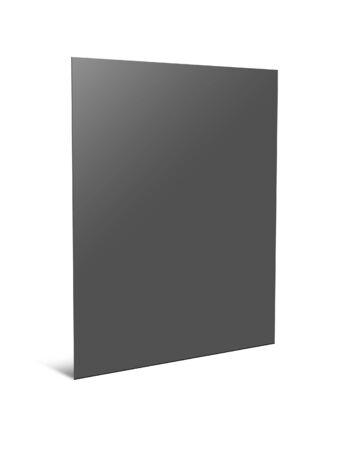 dossier: Blank paper folder. 3d illustration on white background Stock Photo