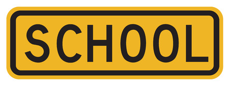 overwhite: School Crosswalk Warning Sign