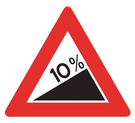 descent: Road sign used in Italy - dangerous descent.