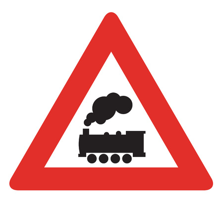 Warning Signs Railway crossing without barrier