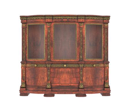 dresser: Antique dresser isolated on white background